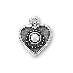 Heart With Bead Charm Image