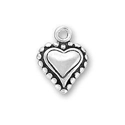 Small Beaded Heart Charm Image