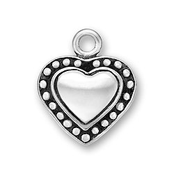 Beaded Heart Charm Image