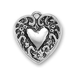 Heart Within A Heart Charm Image