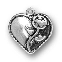 Flower Heart Charm Image