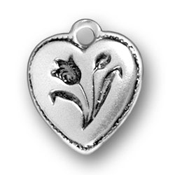 Tulip Heart Charm Image