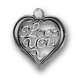 I Love You Heart Charm Image