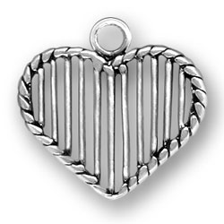 Heart With Lines Charm Image