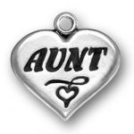 Aunt Heart Charm Image