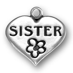 Sister Heart Charm Image