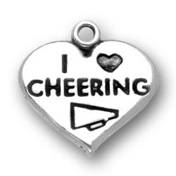 I Heart Cheering Charm Image
