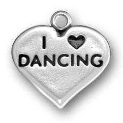 I Heart Dancing Charm Image