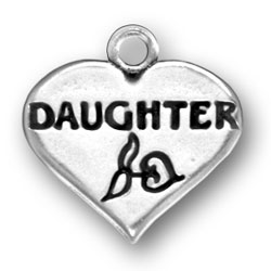 Daughter Heart Charm Image