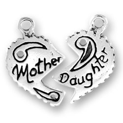 Mother And Daughter Heart Charms Image