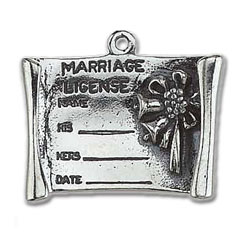 Marriage Certificate Charm Image