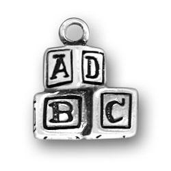 Alphabet Blocks Charm Image
