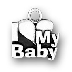 I Heart My Baby Charm Image