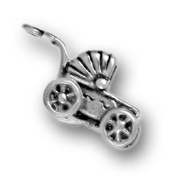 Fancy Baby Carriage Charm Image