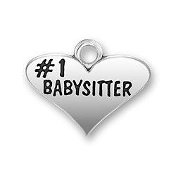 Number 1 Babysitter Charm Image