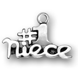 Number One Niece Charm Image