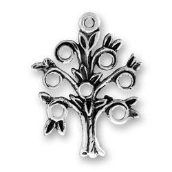 Flat Family Tree Charm Image