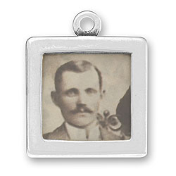 Two Sided Plain Picture Frame Charm Image