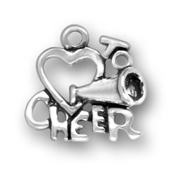 Heart To Cheer Charm Image