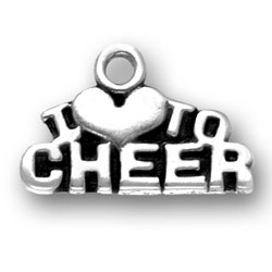 I Heart To Cheer Charm Image