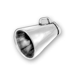 Sterling Silver Large Megaphone Charm Image