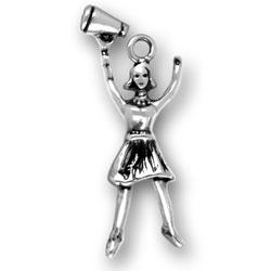 Cheerleader With Megaphone Charm Image