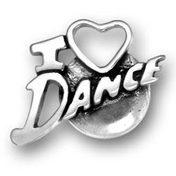 I Heart Dance Charm Image