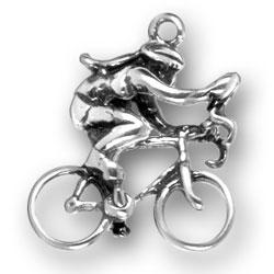 Female Bike Rider Charm Image