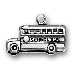 Three Dimensional School Bus Charm Image