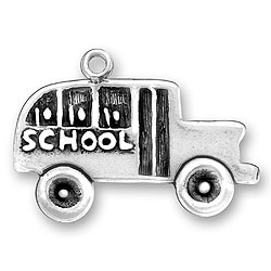 Two Dimensional School Bus Charm Image