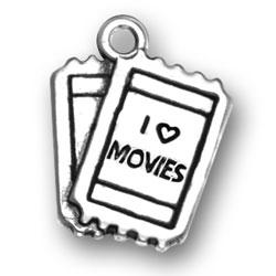 I Love Movies Charm Image