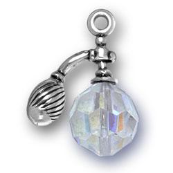 Perfume Bottle Charm With Swarovski Crystal Image