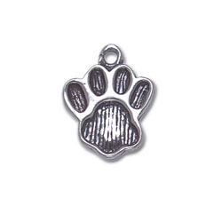 A Large Paw Print Charm Image