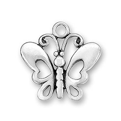 Butterfly With Cutout Wings Charm Image