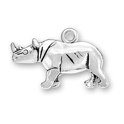 Black Rhinoceros Charm Image