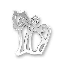 Cat Outline Charm Image