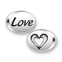 Love Heart Message Bead Image