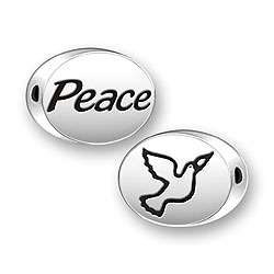 Peace Dove Message Bead Image