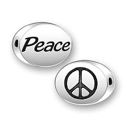 Peace Symbol Message Bead Image