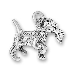 Retriever With Duck Charm Image