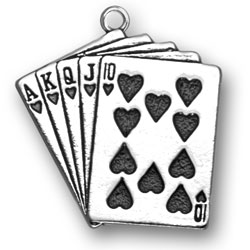 Large Playing Cards Charm Image