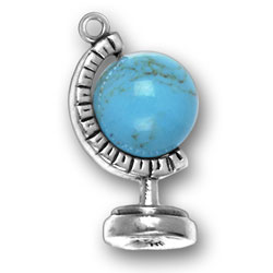 Moveable Globe On Stand Charm Image