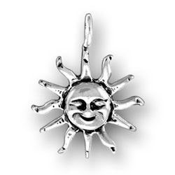 Sun With Face Charm Image