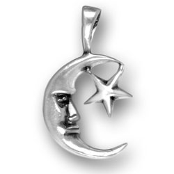 Man In Moon And Star Charm Image