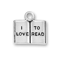 I Love To Read Charm Image