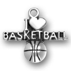 I Heart Basketball Charm Image