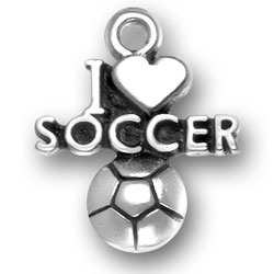 I Heart Soccer Charm Image