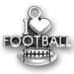 I Heart Football Charm Image