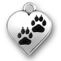 Paws On Heart Charm Image