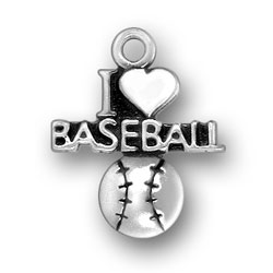 I Heart Baseball Charm Image